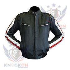 CHEAP BIKER JACKETS. BMW 3874 Red Real Cowhide Motorcycle Coat Biker Armour Gear