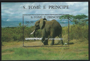 St.Thomas&PrinceIslands SC1241 Souv.Sheet Elephant MNH 1996