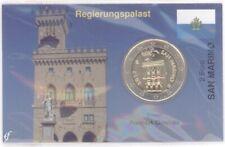 Coincard / Infokarte San Marino 2007 2 Euro Kursmünze
