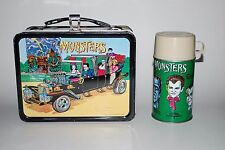 Rare Vintage Old 1965 The Munsters Metal Lunchbox & Thermos.
