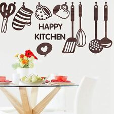 PVC Vinyl Removable Wall Sticker Decal Decor Kitchen Cooking Utensil Spatula