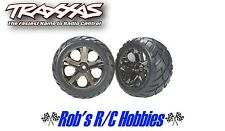 TRAXXAS All-Star Black Chrome Whls w/Anaconda Tires(2),FR:VXL (TRA3776A)