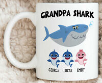 Bestseller Personalized Grandpa Gift For Grandpa Shark Mug Funny Grandpa Mug