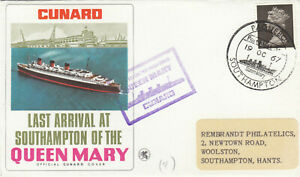 (89814) CLEARANCE GB Cover Queen Mary PAQUEBOT Last Arrival Southampton 1967