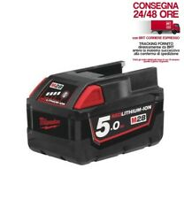 MILWAUKEE- WURTH BATTERIA M28B5 - 5AH RED LITHIUM - NUOVA E ORIGINALE