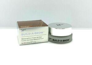 It Cosmetics Build-A-Brow Waterproof 5-In-1 Gel Stain ~ Dark Brown ~ .12oz