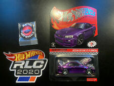 HOTWHEELS 2020 RLC MEMBERSHIP EXCLUSIVE SKYLINE GTR PURPLE ALLOYS RUBBER TYRES