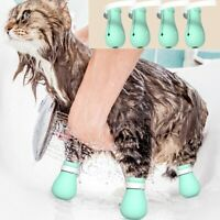 Adjustable Bath Soft Silicone Anti-Scratch Grooming Pet Cat Paw Protector Shoes