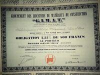 ACTION. Groupement Des Industries De Matériaux De Constructions). Vers 1960.