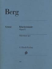 Henle Urtext Berg Piano Sonata Op1