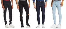 MENS NEW LOOK SUPER SKINNY / SKINNY STRETCH BLACK NAVY LIGHT BLUE JEANS