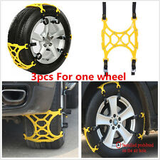 3Pcs/Set Car Snow Tire Anti-skid Chains Beef Tendon Wheel Safety Antiskid Chain
