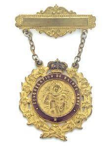 Vintage Congregation Of Saint Anne Religious Pins Medal 14g 2.5in 6.5cm L083