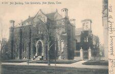 NEW HAVEN CT – Yale University Art Building Rotograph Postcard – udb (pre 1908)