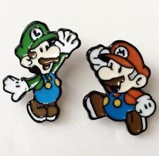 Super mario brothers luigi metal earring ear stud earrings studs cartoon unisex