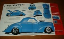 1940 Willys Coupe Spec Sheet Brochure Poster Print Photo 40 Nhra Hot Rod 392 37(Fits: More than one vehicle)