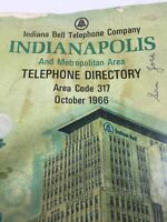 Vintage 1966 Indianapolis Indiana Telephone Directory Phone Book Indiana Bell