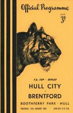 More details for rare football programme hull city v brentford fa cup replay 1953-1954
