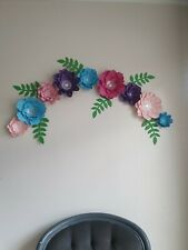 LARGE PAPER FLOWER GARLAND BACKDROP WALL DECOR PARTY DECORATION
