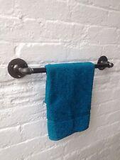 STEEL INDUSTRIAL Bathroom Towel Rail 900MM IRON GAS PIPE **Bespoke Made Items**