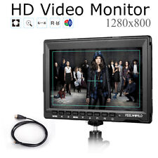 """Feelworld FW759 7.0"""" HD IPS 1280x800 Field Monitor Camera 5D II Mode +Cable"""