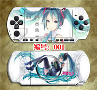 Vocals Hatsune Miku Skin Stickers for PSP3000 Miku Protector Decals for PSP2000