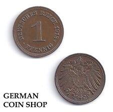 1 Pfennig 1890 1891 1892 1893 1894 1895 1896 1897 1898 1899 1900 A D E F G J