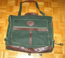 """J.W. HULME CO. Green Canvas & Leather Carry On Garment Bag 24"""""""