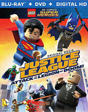 LEGO DC Comics Justice League Attack of the Legion of Doom Blu-ray/DVD W/ Figure