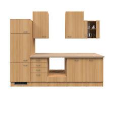 Küchenblock ohne E-Geräte Einbauküche Küchenzeile keine Elektrogeräte 280 buche
