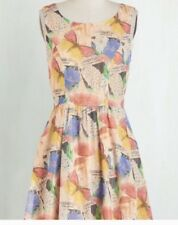 Bea & Dot by Modcloth Multi-color Butterfly Print Sleeveless Dress size S New