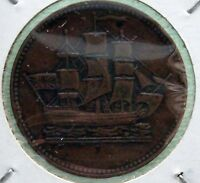 1830-1835 Canadian provinces Token Coin 1/2 Penny Ships CCT# PE-10 Br# 997