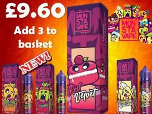 Monsta Vape 60 E Liquid Juice Multi Buy Discounts ml Mango Strawberry Malaysian