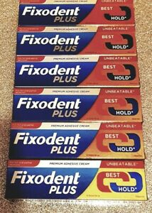 6 x Fixodent plus best hold brand new and sealed