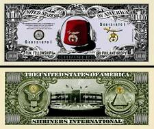 Shriners Million Dollar Bill Collectible Fake Play Funny Money Novelty Note