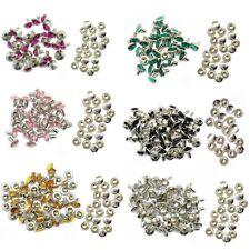 10x 10mm Diamante Crystal Rivets Studs Leather for Bags Shoe Biker Fashion Decor