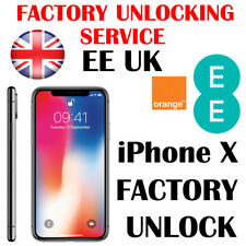 ORANGE T-MOBILE EE UK IPHONE X FACTORY PERMANENT UNLOCKING SERVICE FAST UNLOCK