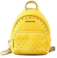 NWT💋Michael Kors Erin Backpack Leather Convertible Small Yellow Studded Bag