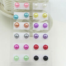 Wholesale lots 12pairs ball colorful Imitation pearl earrings stud jewelry