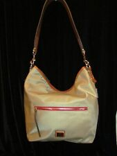 Dooney & Bourke Wayfarer Nylon Hobo Bag Handbag TAN $185