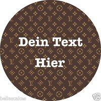 Tortenaufleger Louis Vuitton LV mit Text Tasche Deko Eßbar Tortenbild Designer