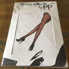 Alice & Olivia by PP Black Backseam Tights One Size