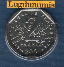 BU 2001 2 Francs Semeuse 2001 BU FDC 125000 Exemplaires Scellés du coffret