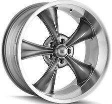 "Staggered Ridler 695 Front:18x8,Rear:18x9.5 5x114.3/5x4.5"" +0mm Grey Wheels Rims"