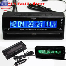 Car Auto LCD Digital Clock Thermometer Temperature Voltage Meter Battery Monitor