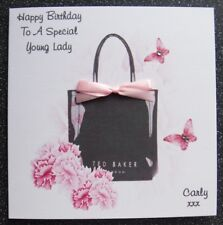 HANDMADE PERSONALISED  BIRTHDAY CARD,FASHION BAG