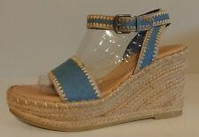 "NEW!! Matisse Blue Jean Wedge Sandals 4"" Heels Size 9.5M US 39.5M EU"
