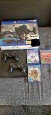 PlayStation 4 Slim 1000GB, OVP, 2 Controller und 3 Spiele