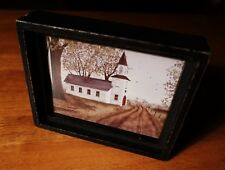 Rustic Framed Old Country Church Primitive Style Home Decor Shadowbox Sign NEW