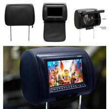 "1X Whole 7"" Car Headrest TFT DVD Player USB IR Remote Game Headphone Cable Plug"